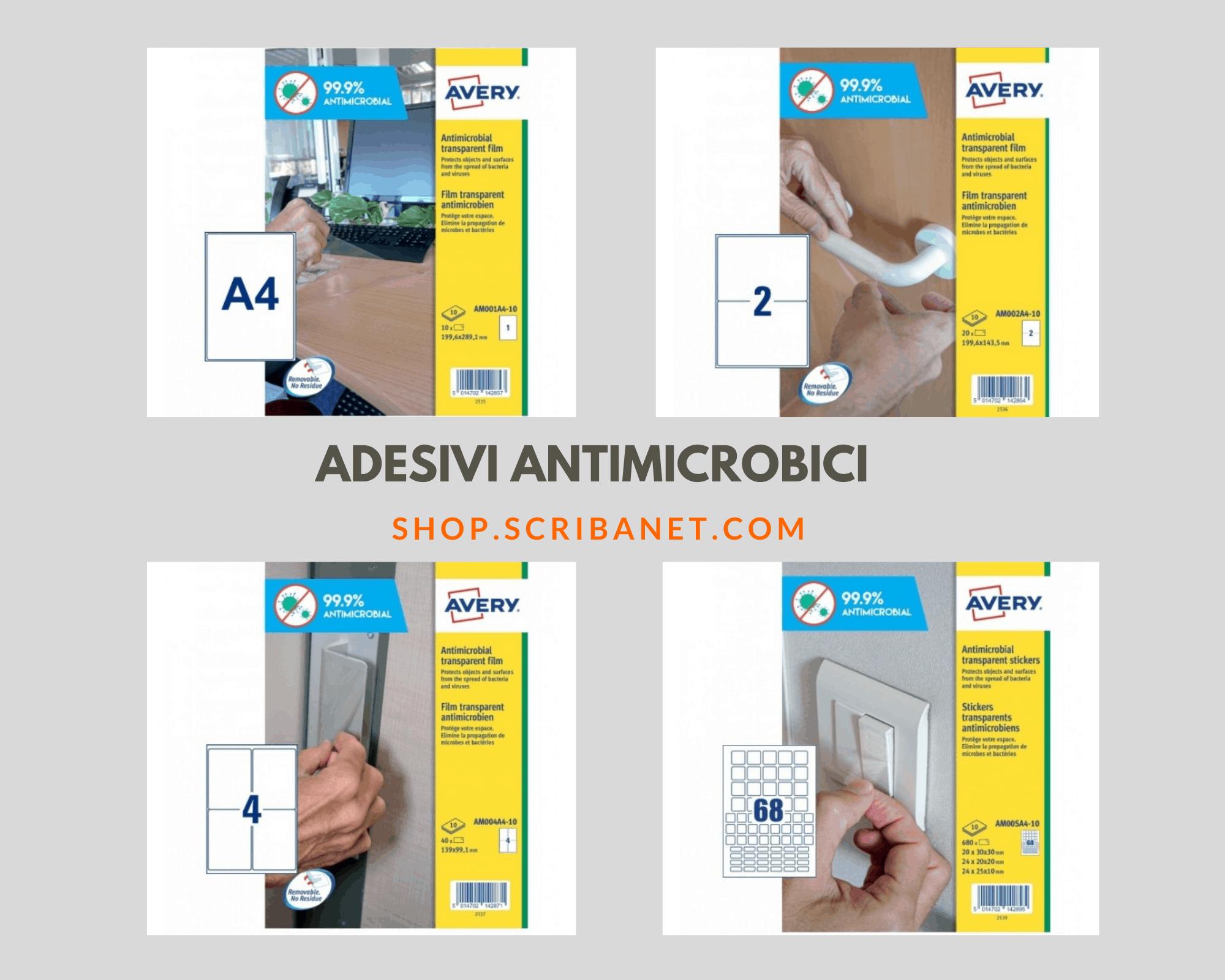 Adesivi Avery Antimicrobici